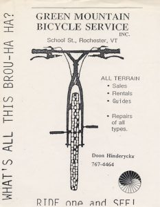 POSTER Vermont Green Mountain Bike Shop Bicycles Sell Buy Trade-In Repair Rental RIDE BREAK FIX