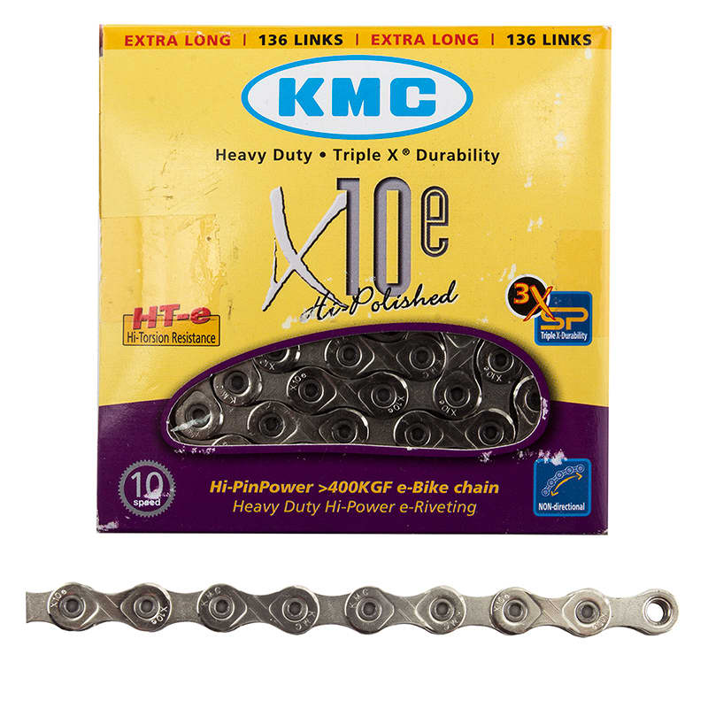 KMC X10e-Sport eBike Chain 136 Links Silver